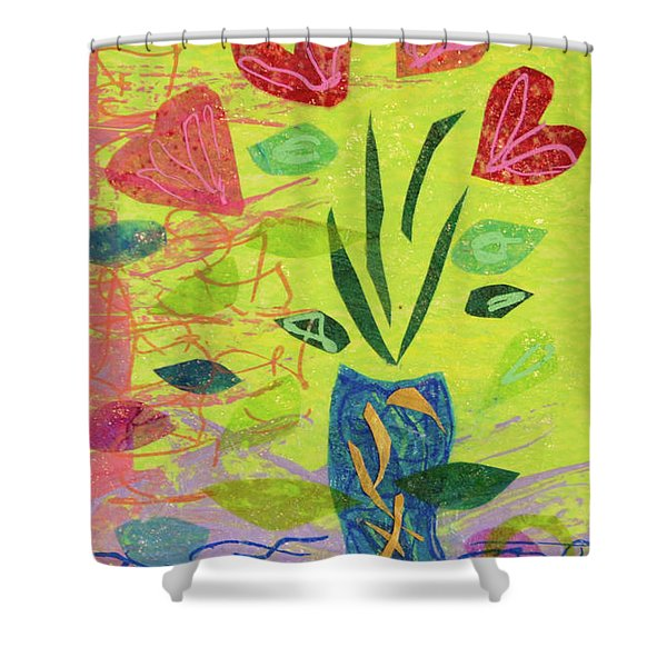 Vase Full Of Love Shower Curtain