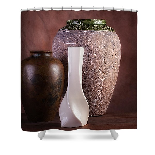 Vases With A Twist Shower Curtain