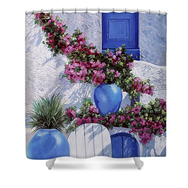 Vasi Blu Shower Curtain