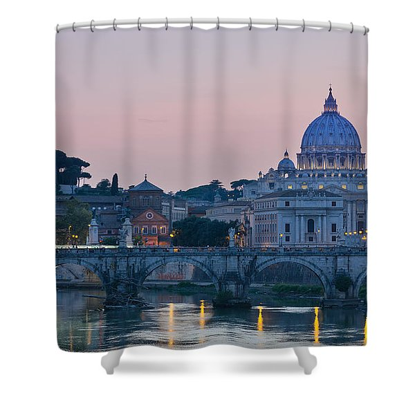 Vatican City At Sunset Shower Curtain