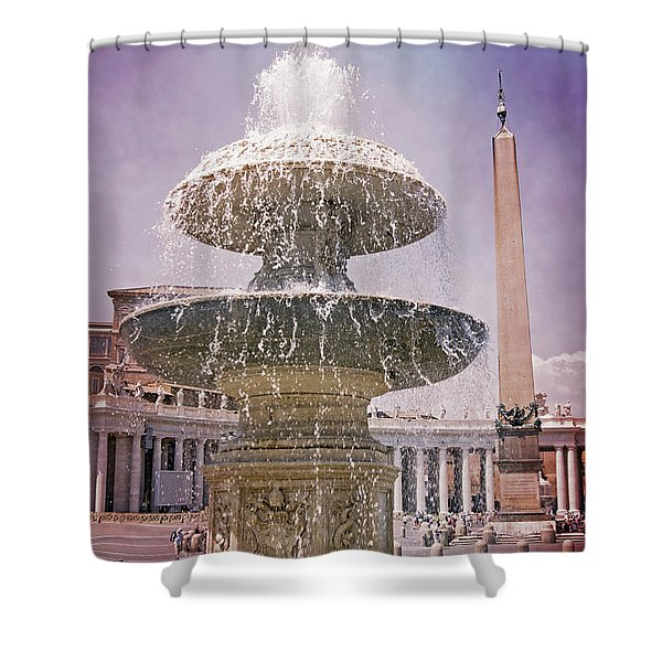 Vatican City Fountain Shower Curtain
