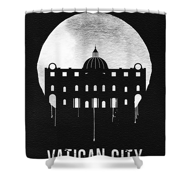 Vatican City Landmark Black Shower Curtain