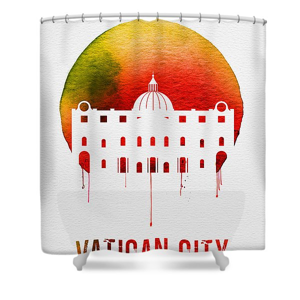 Vatican City Landmark Red Shower Curtain