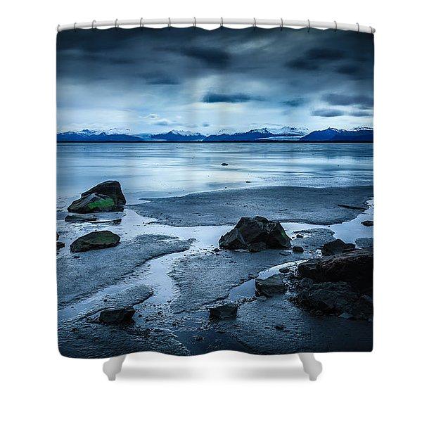 Vatnajokull From Stokksnes Shower Curtain
