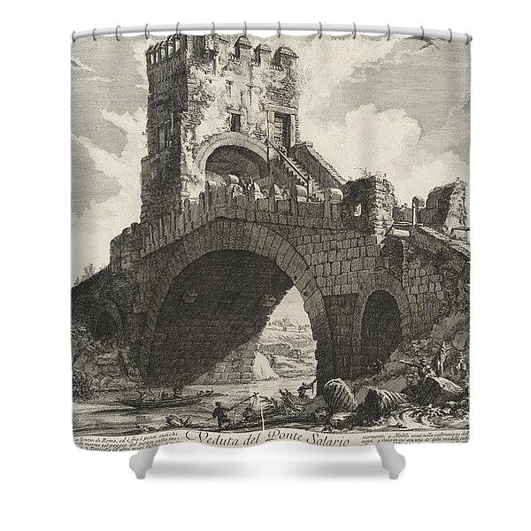 Veduta Del Ponte Salario Shower Curtain