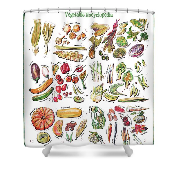 Vegetable Encyclopedia  Shower Curtain