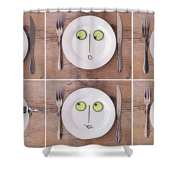 Vegetable Faces Shower Curtain