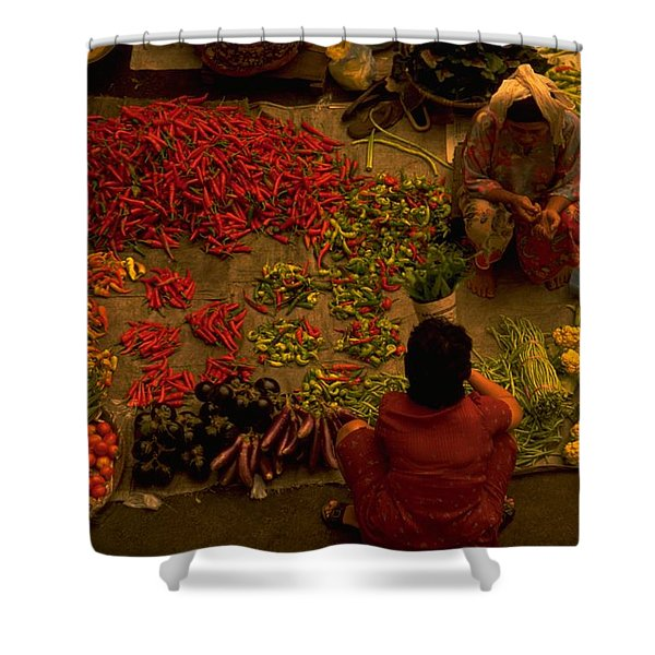 Vegetable Market In Malaysia Shower Curtain