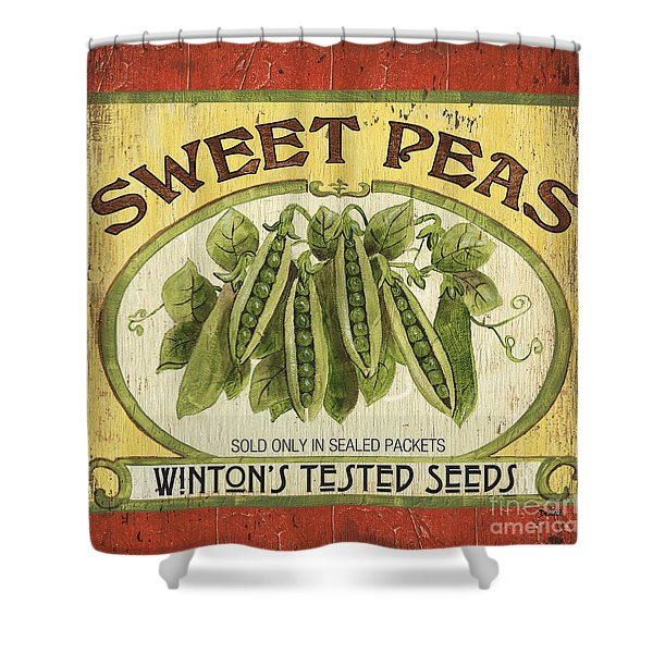 Veggie Seed Pack 1 Shower Curtain