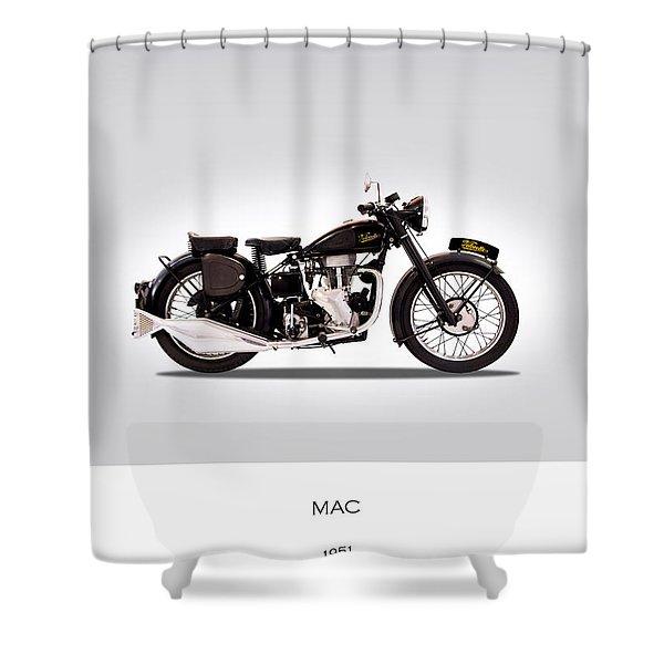 Velocette Mac 1951 Shower Curtain