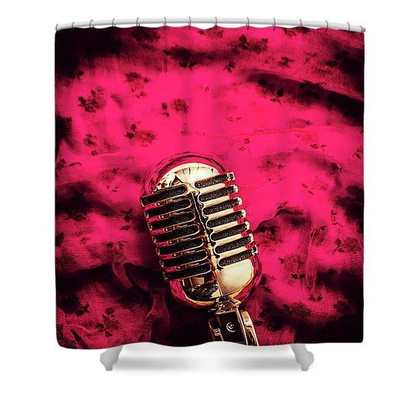 Velvet Jazz Show Shower Curtain
