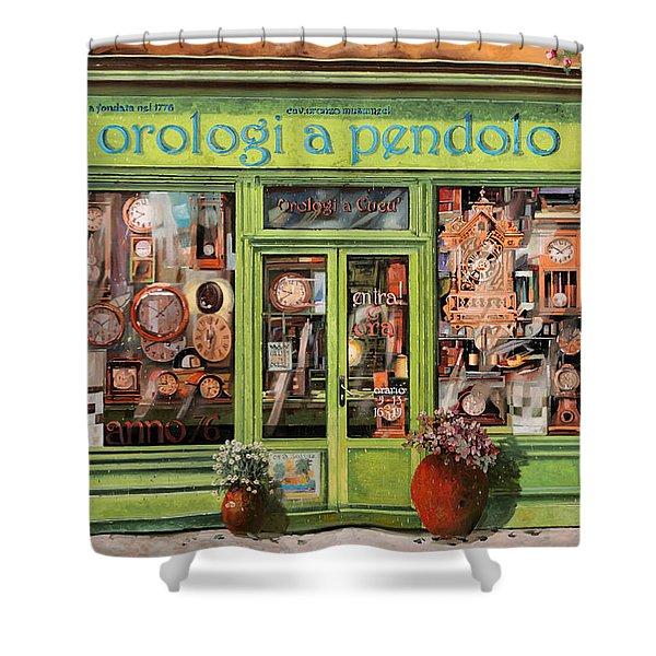 Vendita Di Orologi A Dondolo Shower Curtain