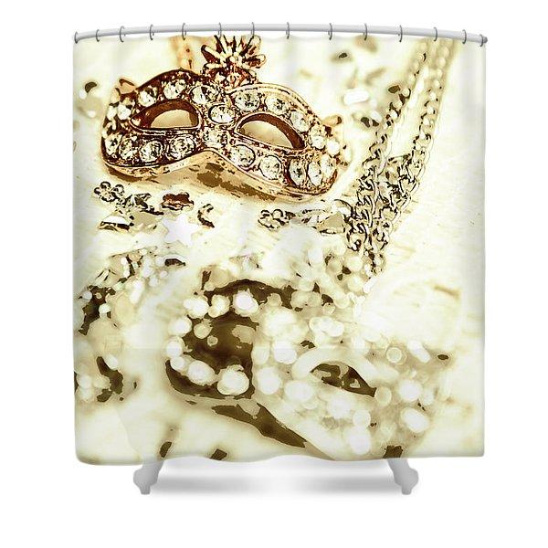 Venetian Crystal Style Shower Curtain