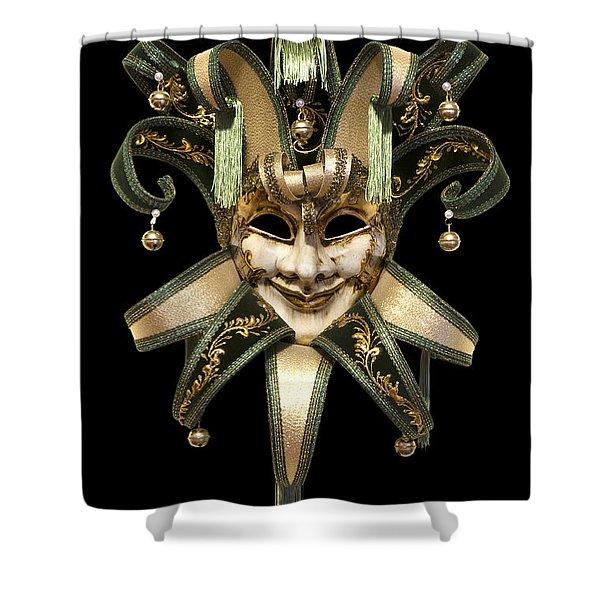 Shower Curtain featuring the photograph Venetian Mask by Fabrizio Troiani