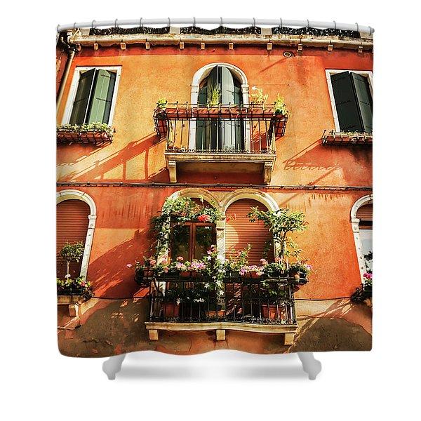 Venetian Windows Shower Curtain