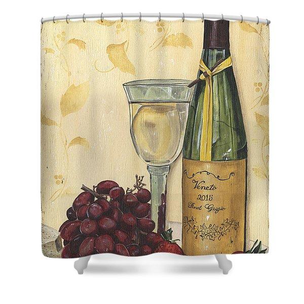 Veneto Pinot Grigio Shower Curtain