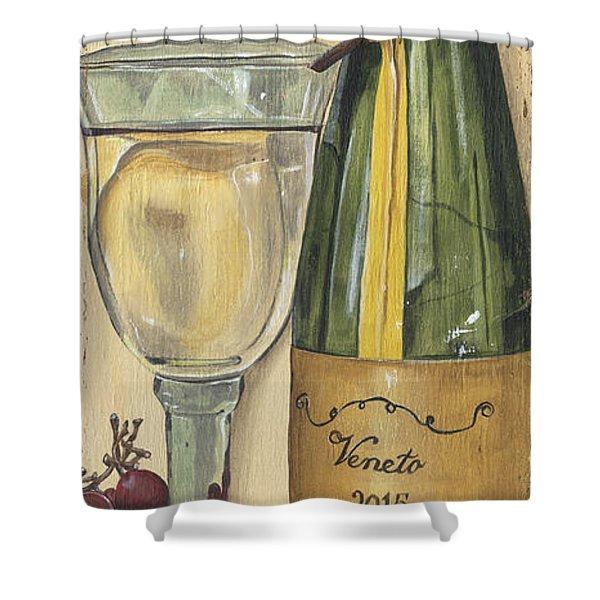 Veneto Pinot Grigio Panel Shower Curtain