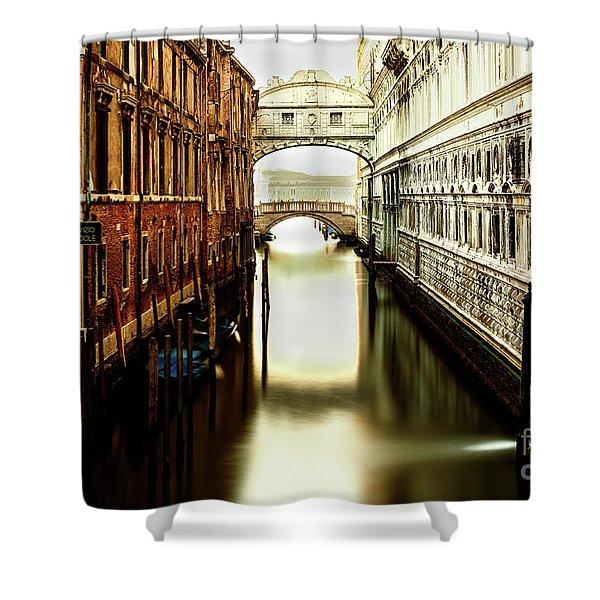 Venice Bridge Of Sighs Shower Curtain