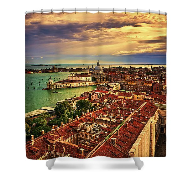 From The Bell Tower In Venice, Italy Shower Curtain