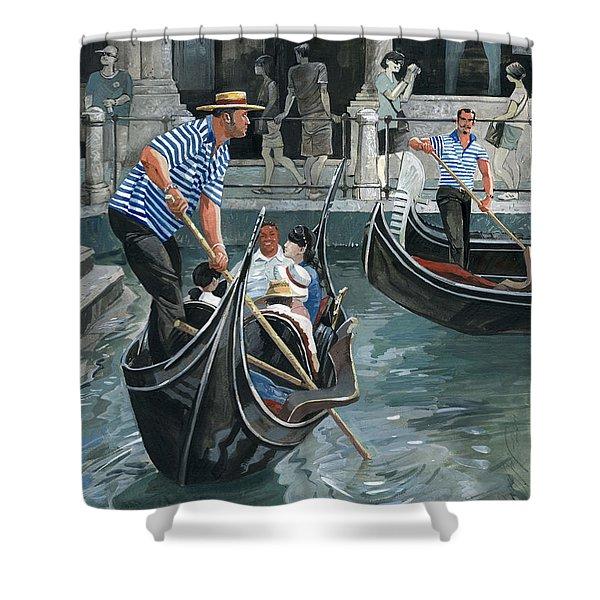 Venice. Il Bacino Orseolo Shower Curtain