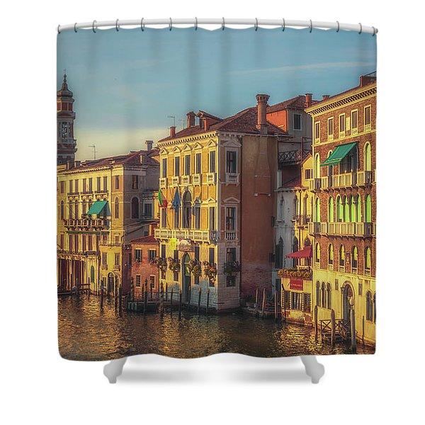 Venice In Sunset Light Shower Curtain