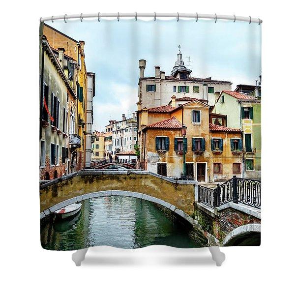 Venice Neighborhood Shower Curtain