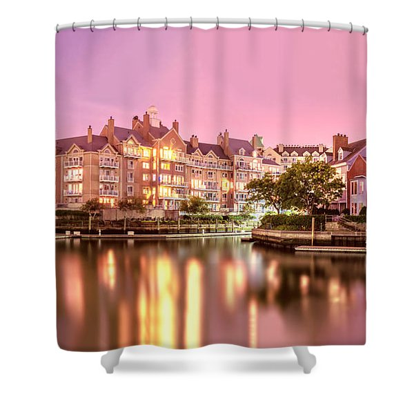 Venice Of Jersey City Shower Curtain