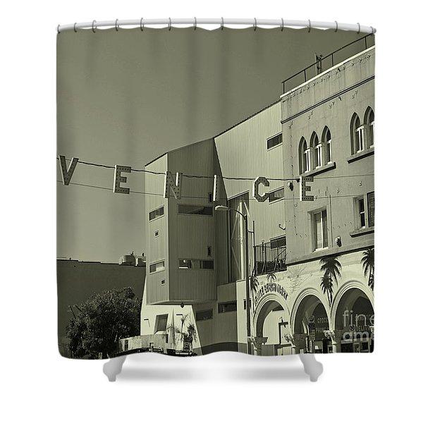 Venice Sign Shower Curtain