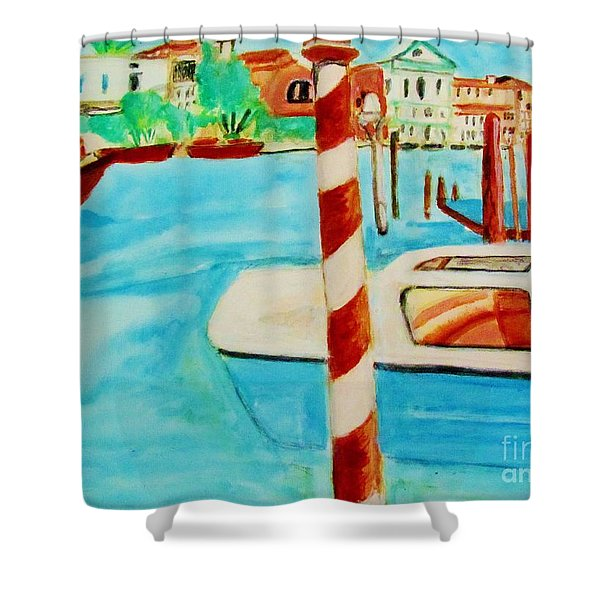 Venice Travel By Boat Shower Curtain