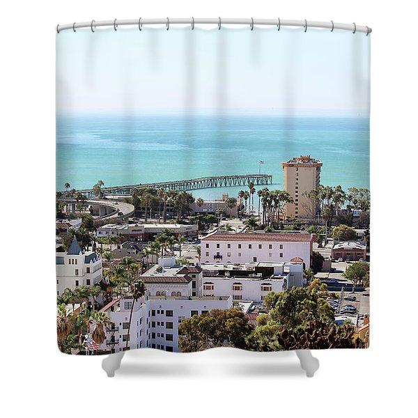 Ventura Coastal View Shower Curtain