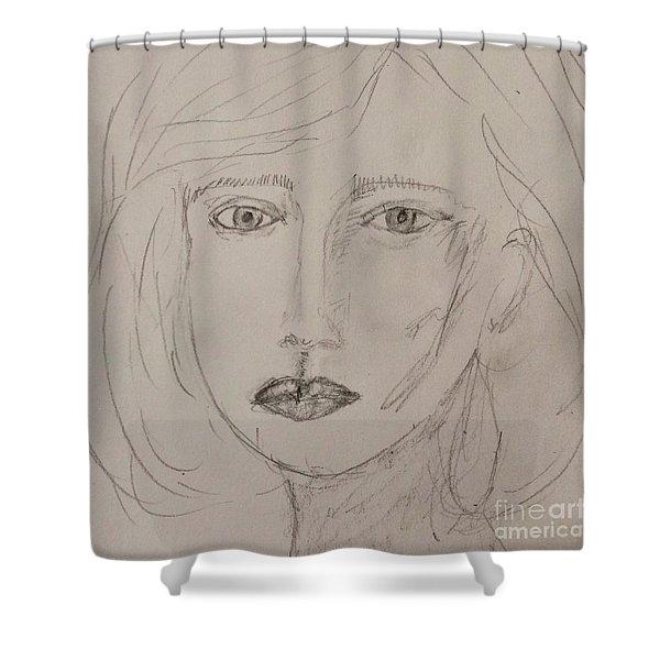 Vera In Pencil Shower Curtain