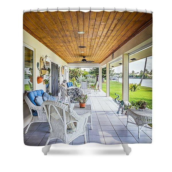 Shower Curtain featuring the photograph Veranda by Jody Lane
