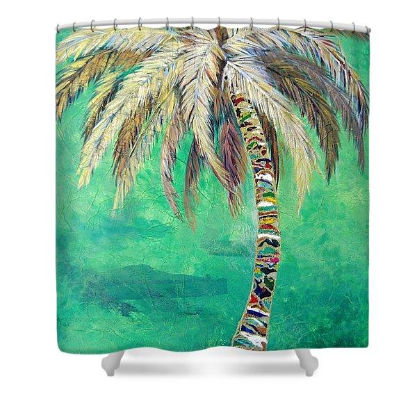 Verdant Palm Shower Curtain