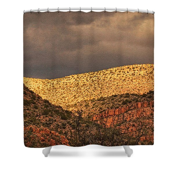 Verde Canyon View Txt Shower Curtain
