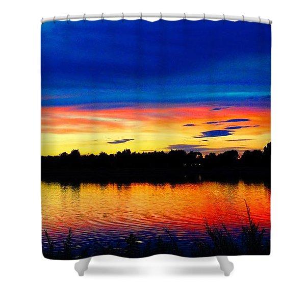 Vermillion Sunset Shower Curtain