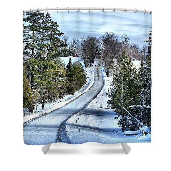 Vermont Country Landscape Shower Curtain