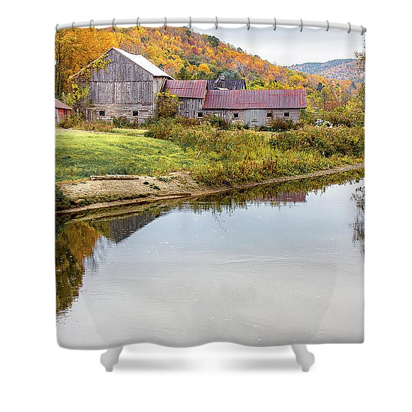 Vermont Countryside Shower Curtain