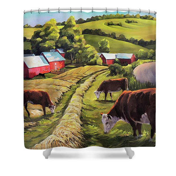 Vermont Going For The Green On Jenne Farm Shower Curtain