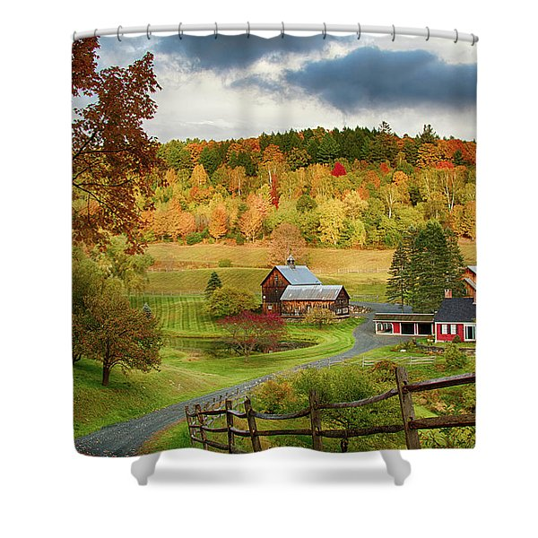 Vermont Sleepy Hollow In Fall Foliage Shower Curtain