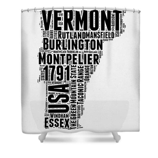 Vermont Word Cloud 2 Shower Curtain