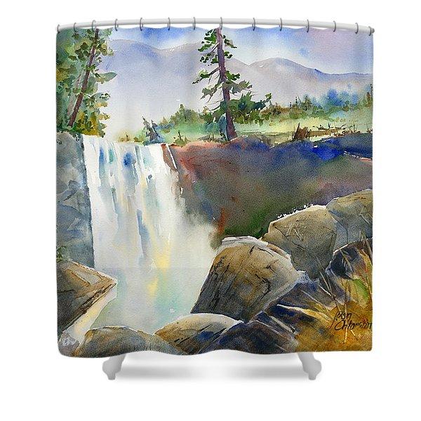 Vernal Falls Shower Curtain