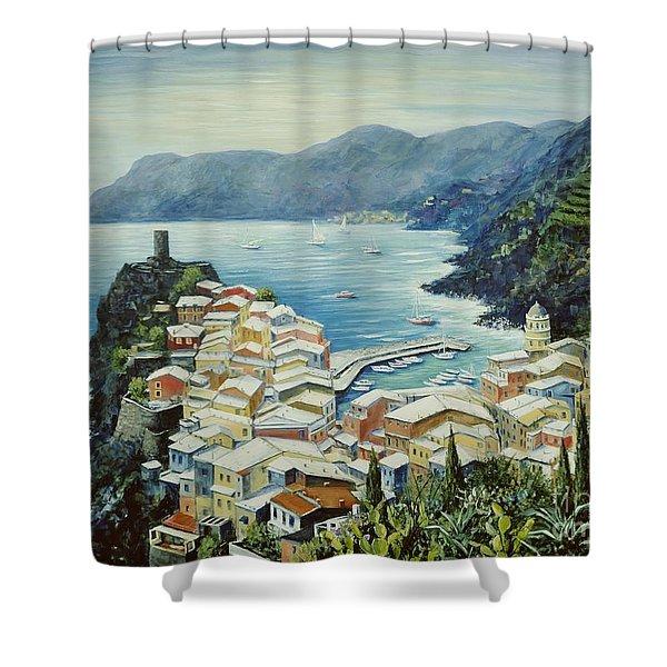 Vernazza Cinque Terre Italy Shower Curtain