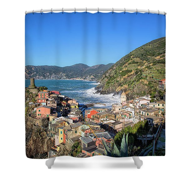 Vernazza In Cinque Terre Shower Curtain