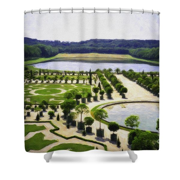 Versailles Digital Paint Shower Curtain