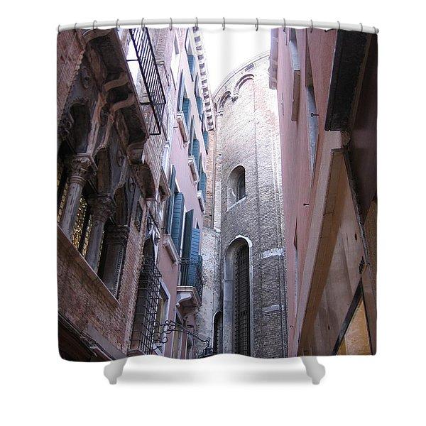 Vertigo In Venice Shower Curtain