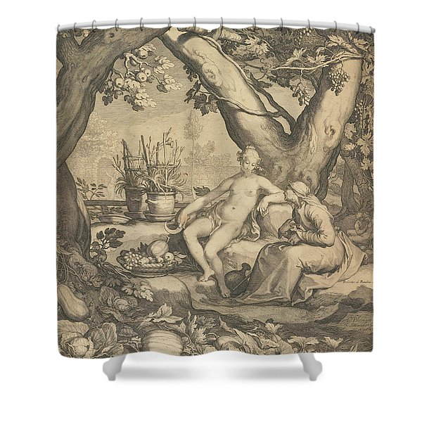 Vertumnus And Pomona, 1605  Shower Curtain