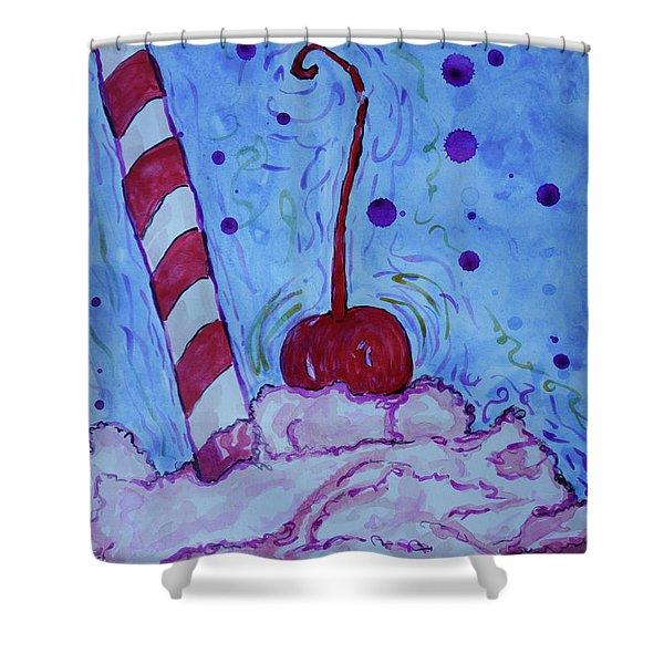 Very Cherry Soda Shower Curtain