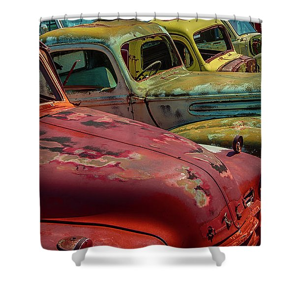 Very Late Models Shower Curtain