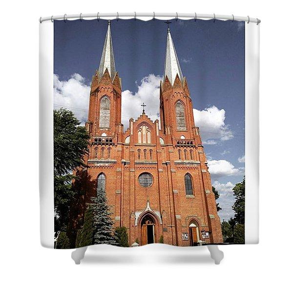 Very Old Church In Odrzywol, Poland Shower Curtain