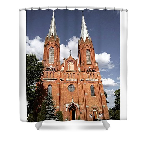 Very Old Church In Odrzywol, Poland Shower Curtain